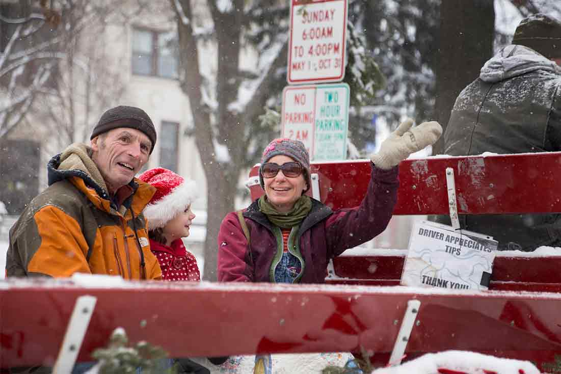 Family Christmas Wagon Ride