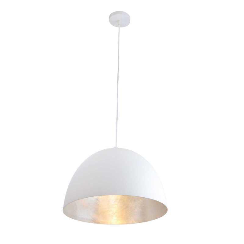 מנורת תליה דגם כיפה אמור לבן+כסוף