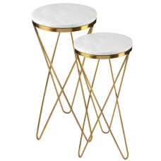שולחן צד שילוב שיש זהב (3 מידות)