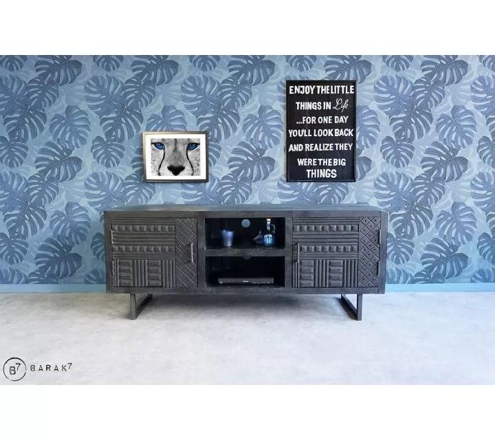 meuble tv ethnique noir