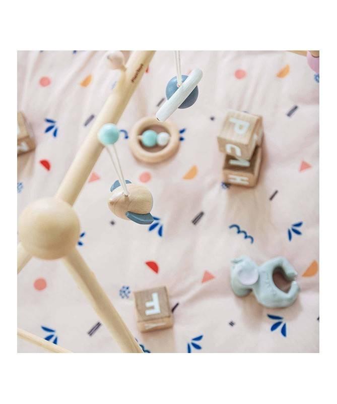 tapis d eveil matelasse et sac de jouets icones baby