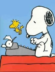 a_snoopy_ecrire_machine