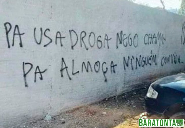 Pra usar drogas...