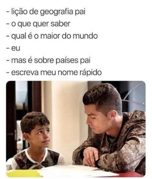 Os melhores memes do CR7 com seu filho