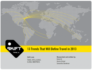 13 trends that will define travel in 2013