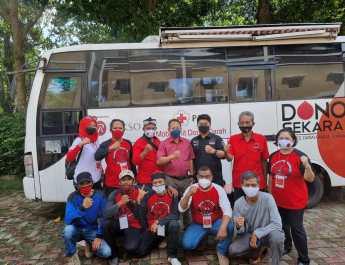 Peduli Kemanusiaan Saat Pandemi, Repdem Kota Bogor Gelar Aksi Donor Darah