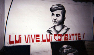 Il murales di Mikis Mantakas, martire europeo del Msi nella sezione Prati di Via Ottaviano