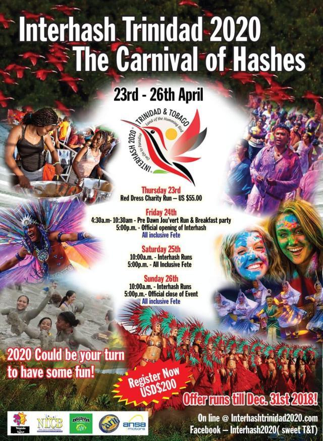 Trinidad Calendar Of Events February 2020 World Inter Hash 2020 TRINIDAD – Barbados Hash House Harriers