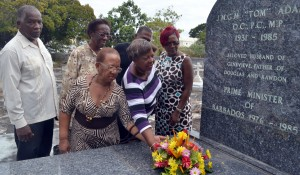 Barbados Labour Party stalwarts, including St. Thomas MP, Cynthia Forde paid a tribute.