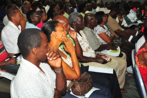 The audience at this morning's public forum.