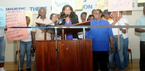 Minister of Labour, Dr. Esther Byer-Suckoo, expressed the Ministry's commitment to workers rights.