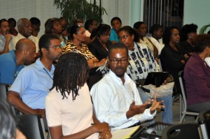 Participants in last SBA forum.