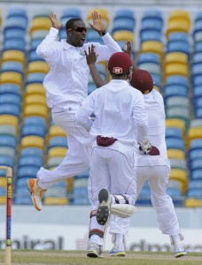 Shane Shillingford (left) will undoubtedly be the centre of attention on his home ground.