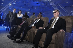 Enjoying the 3D experience at FLOW World launch recently.