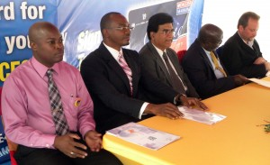 Officials at the DaCosta Mannings Classic Credit Card launch.