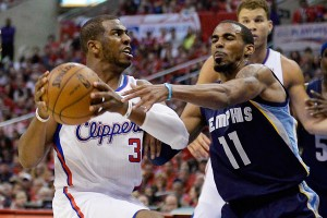 Chris Paul (left) was the Clippers' hero last night.