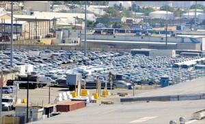 Cars on Kingston dock.