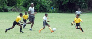 St. Giles' Ishem Ellis has been evoking favourable comments in the Bico-sponsored National Sports Council's Primary Schools Football Competition. And today was no different at Blenheim, St. Michael.