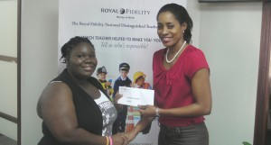 Royal Fidelity's Carolyn Giles-Griffith (right) and nominator Asha Pitt.