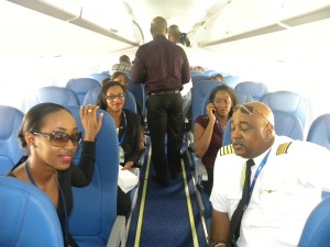 Airline stakeholders having a taste for the new aircraft.