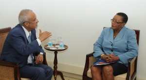 Rachad Farah of UNESCO meeting with Minister McClean.