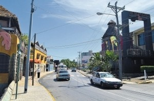 Gloucester Avenue in Montego Bay.
