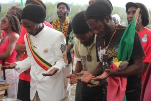 Praises to Haile Selassie by the Rastafarian group.