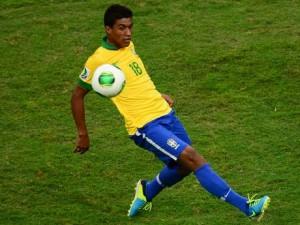 Paulinho scored the decisive header for Brazil.