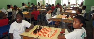 Youngsters at play during the chess championship.