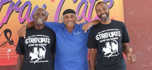 Manager Jerry Roberts (centre) with members Anthony and Vince.