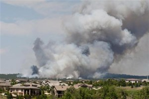 Wildfire threatens homes in Colorado.