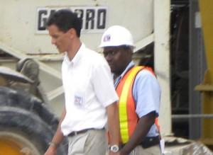 Mark Maloney (left)