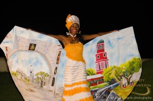 Miss Barbados Tiffany Gooding.