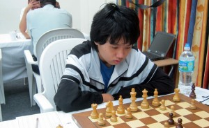 Yutien Poon of The Lodge School in deep concentration.