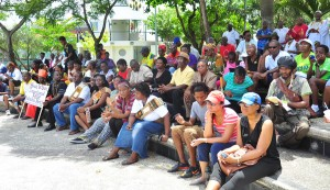 Barbadians supporting Emancipation Day activities.