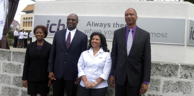 CEO of the ICBL, Ingrid Inness (second from right) and other management officials.