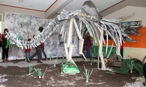 Welcome to earth 231.4 million years ago- A display of the extinct dinosaurs during the triassic period.