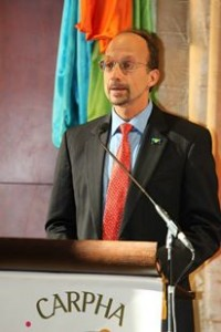 Executive Director of the newly-established Caribbean Public Health Agency, Dr. James Hospedales