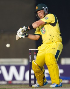 Aaron Finch man-handled the England attack today.