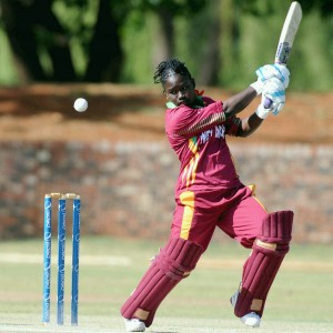 Deandra Dottin slammed a quick-fire ton today. (FP)