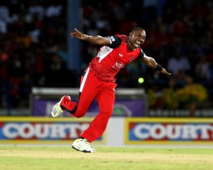 Dwayne Bravo starred with bat and ball to give Trinidad Red Steel a one-run victory.