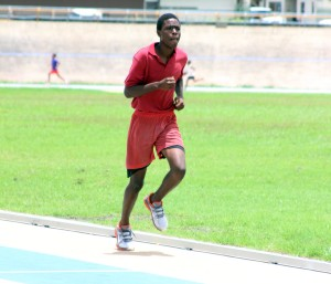 Nathan Worrell on his way to winning the 600m during the Inter-Camp Games today.