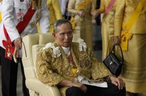 Thailand's King Bhumibol Adulyadej arrives back at the Siriraj Hospital in Bangkok