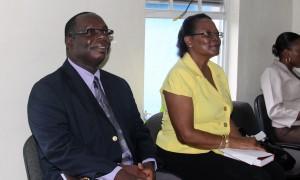 Principal Orson Alleyne and his deputy, June Brown.