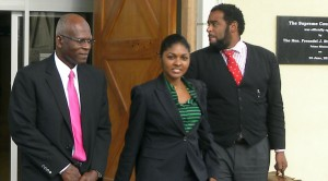 Flashback: Darwin Dottin at one of his most recent court appearances.