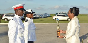 Best at Officers' Safety Training and First Aid – Desmond Weekes and Cherrydelle Cunningham-Coombs.