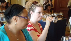 Connoisseurs going through a wine-tasting session titled, 'Baxter's Road Bottles' .