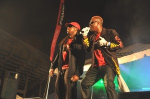 Blood (right) with Soca Kartel partner Mikey.