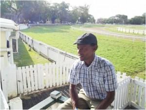 Patrick Husbands speaking to Barbados TODAY at the Garrison Savannah.