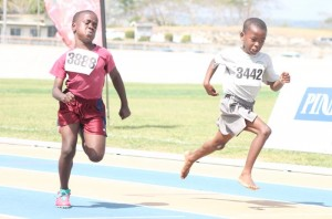 Christian Yearwood of Sharon Primary managed to win just ahead of Jacoby Marshall of St Giles Primary.
